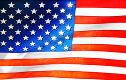 Plastic American flag background Royalty Free Stock Images