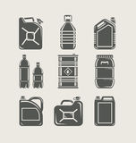 Plastic And Metallic Can Set Icon Royalty Free Stock Images