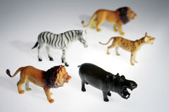 Plastic animals Royalty Free Stock Photos