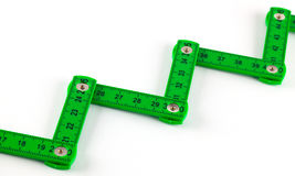 Plastic articulated ruler Stock Photography