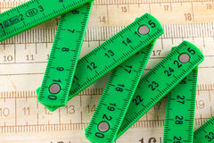 Plastic articulated ruler Stock Image