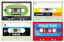 Plastic audio cassette tapes Stock Photos
