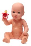 Plastic Baby Doll on Isolated White Background Royalty Free Stock Photography