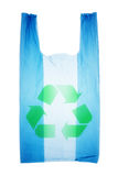 Plastic bag. With recycle symbol Stock Photos