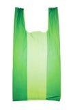Plastic bag. Green plastic bag isolated on white Stock Photo