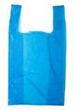 Plastic bag. Blue Plastic bag isolated on white background Stock Photo