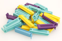 Plastic bag clips Stock Photography