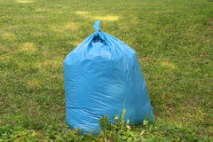 Plastic bag on grass Royalty Free Stock Image