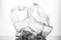 Plastic bag. Transparent plastic bag on a white background Stock Image