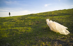 Plastic bag waste Royalty Free Stock Photography