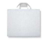 Plastic bag on white Stock Photo