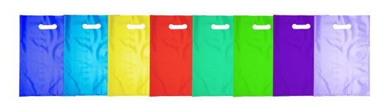 Plastic bag on white Royalty Free Stock Photo