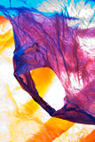 Plastic bags. Various colorful plastic supermarket bags stock images