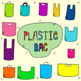 Plastic bags color Royalty Free Stock Photos
