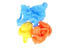 Plastic bags isolated on white background Stock Photography