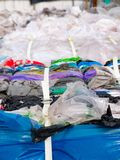 Plastic bags prepared for recycling. The Plastic bags prepared for recycling Royalty Free Stock Photos