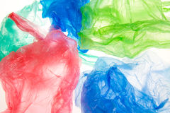 Plastic bags. On white background Stock Photography
