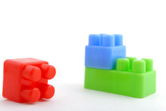Plastic bakstenen stock fotografie