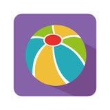 Plastic ball toy icon Stock Image
