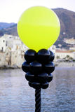 Plastic balloon in cefalu Stock Photos