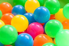Plastic balls. Royalty Free Stock Photo
