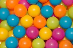 Plastic balls. A lot of colorful balls for kids Stock Images