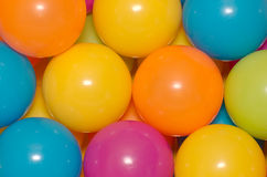 Plastic balls. A lot of colorful balls for kids Royalty Free Stock Image