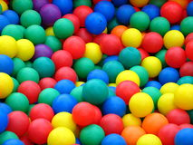 Plastic balls in different colors. Plastic balls from kids' playground royalty free stock image