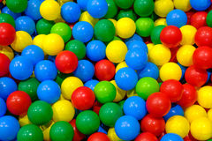 Plastic balls in playroom. Background Royalty Free Stock Photos