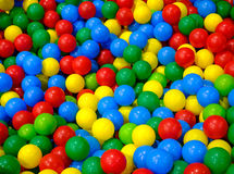 Plastic balls in playroom. Background Royalty Free Stock Photo