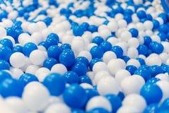 Plastic balls in playroom. Royalty Free Stock Image