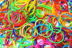 Plastic band color Stock Image