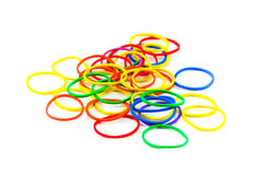Plastic band. The colorful rubber can be used to many benefits Stock Photography