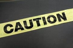 plastic band för varning royaltyfri fotografi