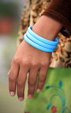Plastic bangles Royalty Free Stock Photos