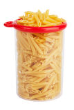 Plastic bank, stuffed pasta Stock Photography