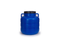 Plastic Barrel with cover Royalty Free Stock Photo