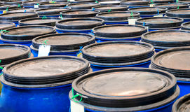 Plastic barrels Royalty Free Stock Photo