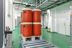 Plastic barrels stock photography