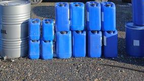 Plastic barrels Stock Image
