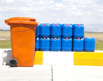 Plastic barrels Royalty Free Stock Images