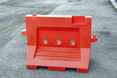 Plastic barrier. An image of a construction plastic barrier stock photography