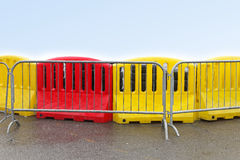 Plastic barrier Royalty Free Stock Images