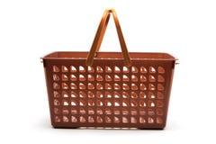 Plastic Basket. On White Background Stock Images