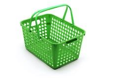 Plastic Basket. On White Background Stock Photography
