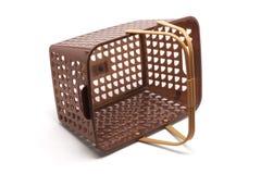 Plastic Basket. On White Background Royalty Free Stock Photos