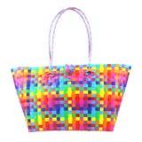 Plastic Basket. On Isolated Background Stock Images