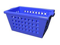 Plastic Basket_Raster Royalty Free Stock Photo