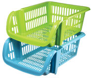 Plastic basket Royalty Free Stock Image