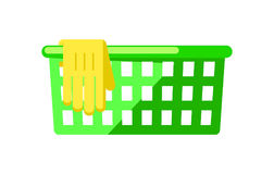 Plastic basket isolated vector icon Royalty Free Stock Image